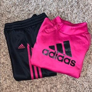 Adidas sweatshirt and pants